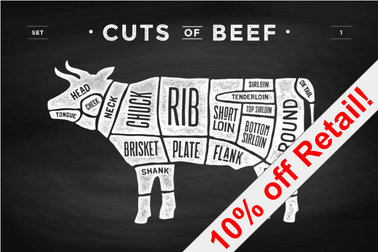 10% of Retail Grassfed Beef
